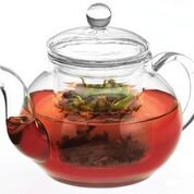 Teapot- Glass with Stainless Steel Infuser