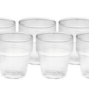 Twin Wall Stackable Glasses  250ml x6