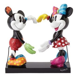 Minnie & Mickey Heart Figurine by Britto