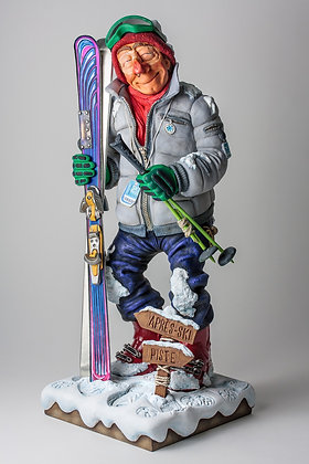 """""""The Skier"""" Sculpture by Guillermo Forchino"""