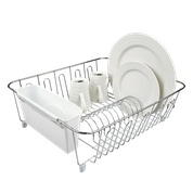 Dish Rack- Chrome with white caddy- DL