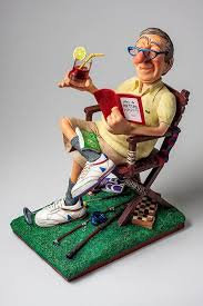 """The Retiree"" Sculpture by Guillermo Forchino"