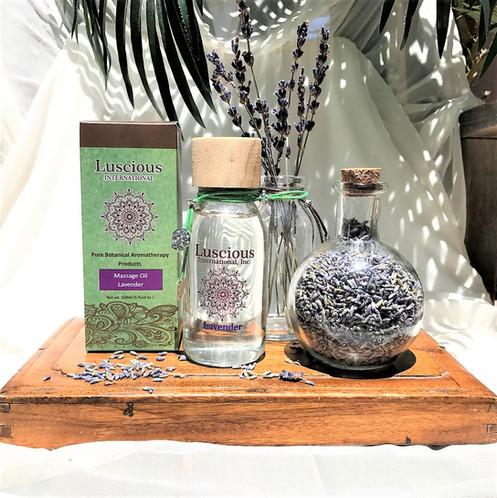 Lavender Aromatherapy Massage Oil Skin Moisturizer