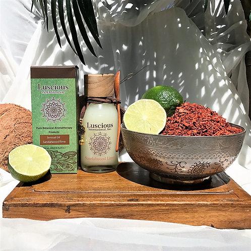 """Sandalwood Lime"" Essential Oil Aromatherapy Skin Moisturizer"
