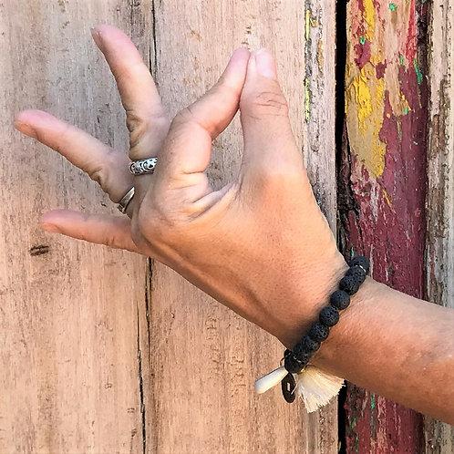 """""""Lava Stone"""" Aromatherapy Bracelet"""