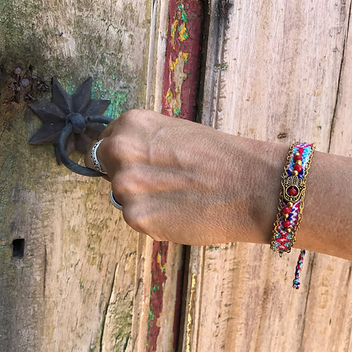 """Friendship Hamsa"" Handwoven Bracelet"