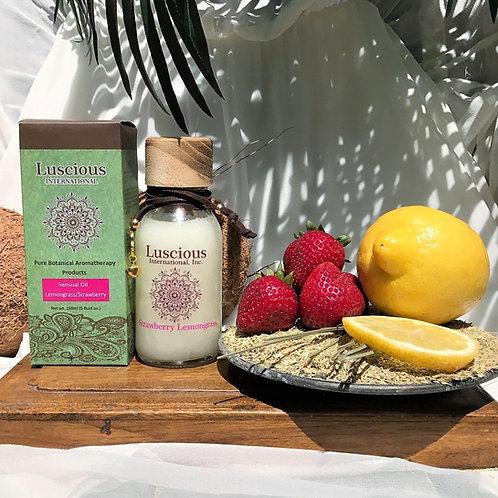 """Lemongrass Strawberry"" Essential Oil Aromatherapy Skin Moisturizer"