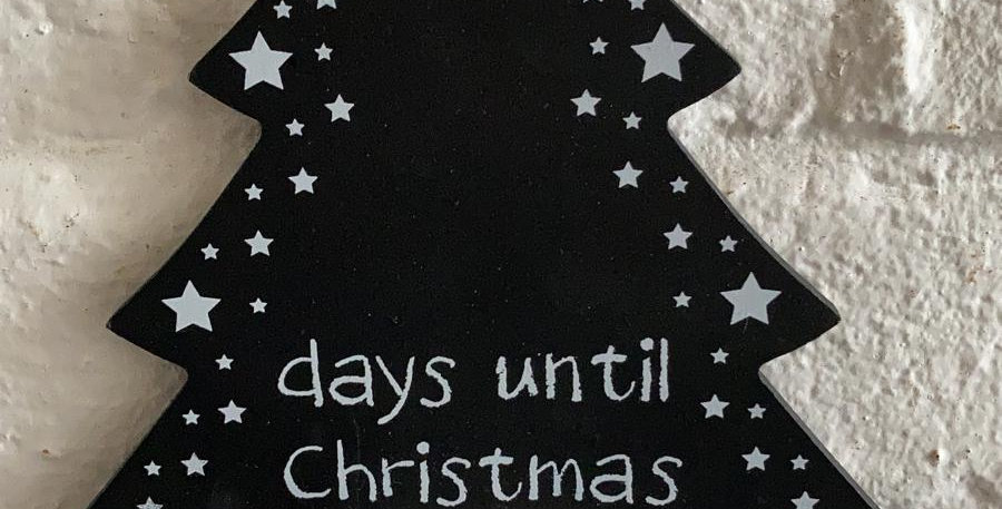 Christmas Tree Chalk Board