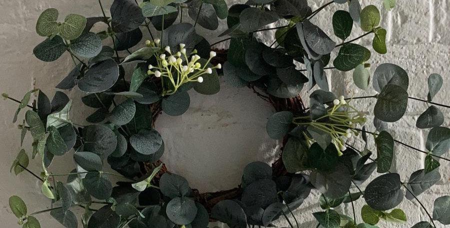 34cm Eucalyptus Faux Wreath