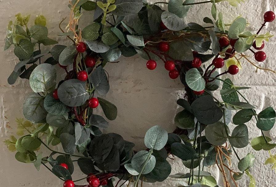 34cm Berry Faux Wreath