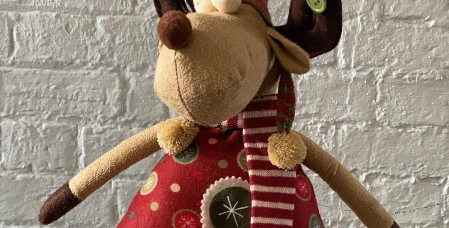 Christmas Reindeer - Tall Red