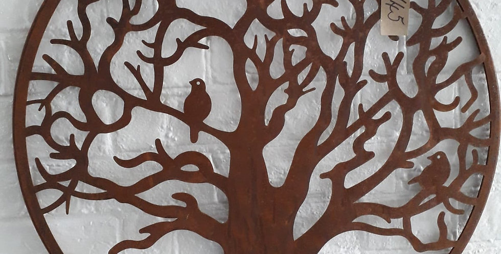 Wall Mount - Birds in Tree