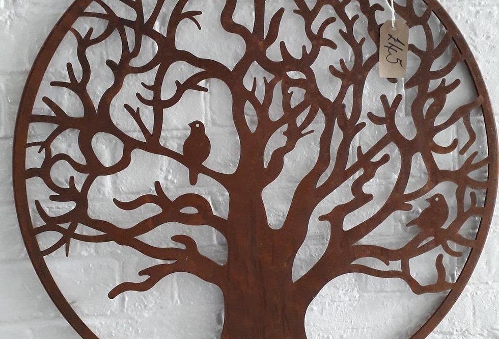 Wall Mount - Birds in Tree
