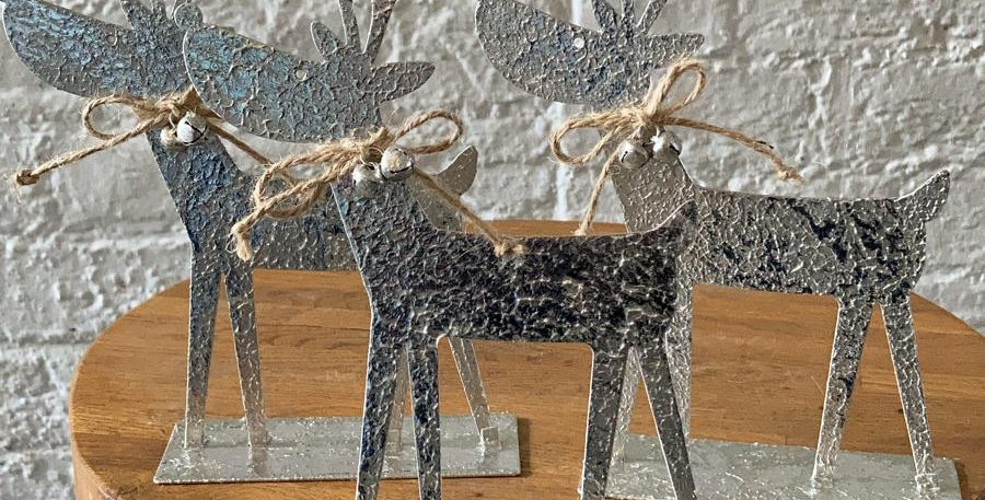 Metal Christmas Reindeer