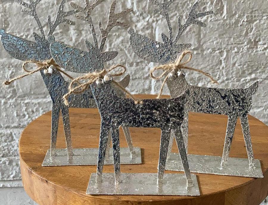 Metal Christmas Reindeer