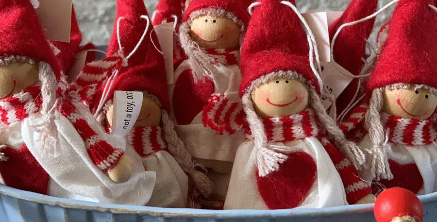 Small Red Hanging Doll