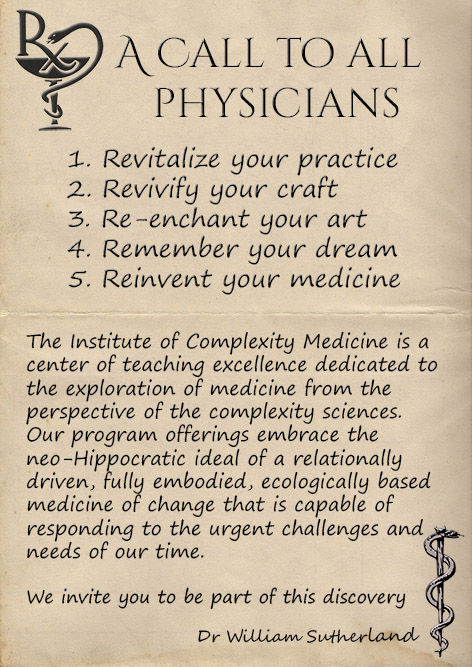 The Institute of Complexity Medicine: Fostering the future Physician