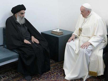 Papa Francisco tem encontro histórico com aiatolá e visita local de nascimento de Abraão
