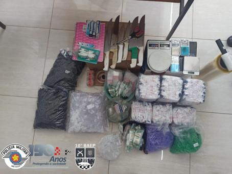 Baep de Piracicaba prende três homens com 6,5 Kg de Entorpecentes em Sumaré