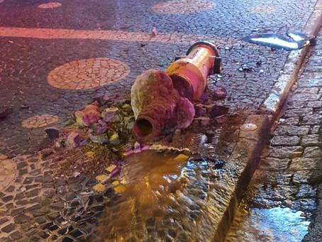 Em Americana na Avenida Paulista motorista perde controle de veiculo e bate em hidrante