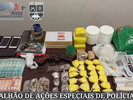Equipe do Baep da Policia Militar prende dois homens com grande quantidade de drogas em Americana