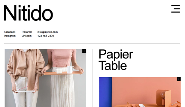 NYHETER! website templates – Industrial Design Studio