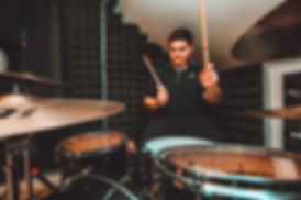 Jack O'Connell drumming