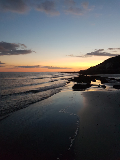 Ventnor beach at sunset