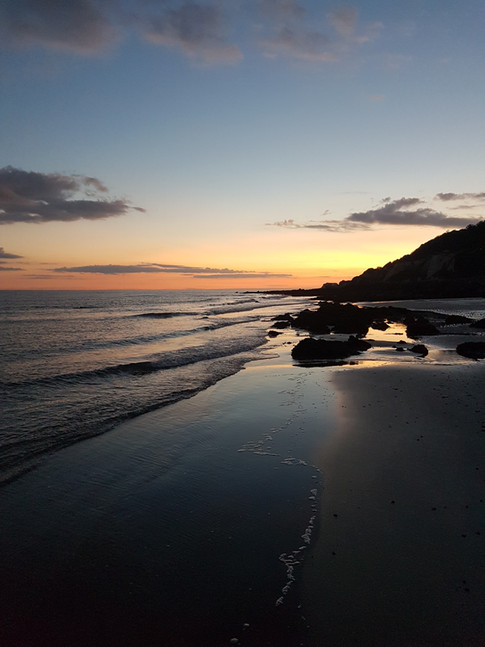 Ventnor beach at sunset