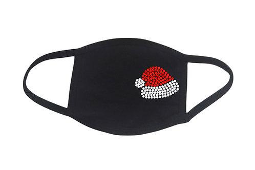 RHINESTONE Santa Hat face mask - bling Christmas Xmas X-mas Eve cap