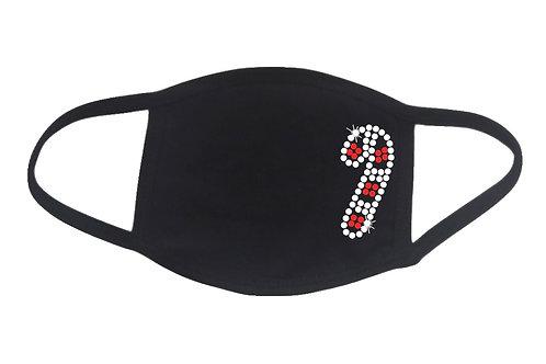 RHINESTONE Candy Cane face mask - bling Christmas Xmas X-mas treat