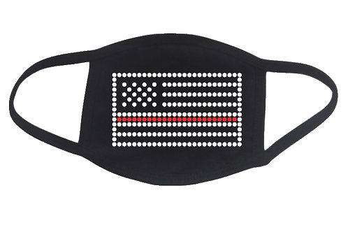 RHINESTONE Thin Red Line Flag face mask cover - bling fire fireman woman service