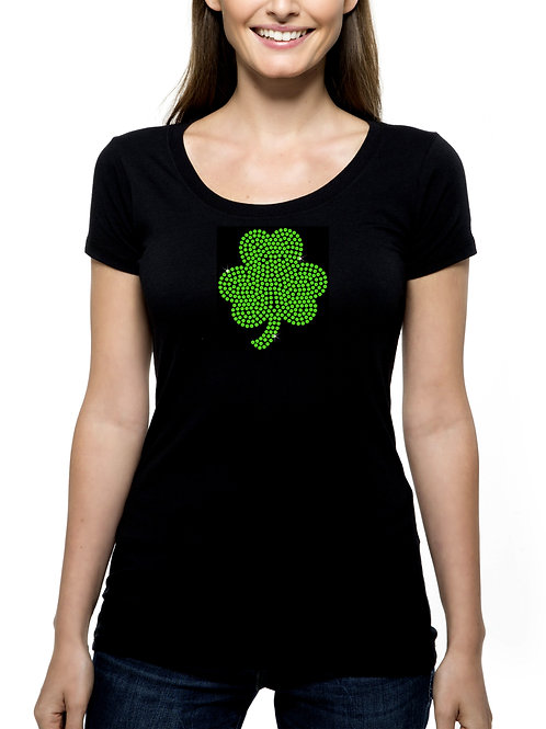 Shamrock RHINESTONE T-Shirt or Tank Top - BLING St Patrick's Day Irish Pride