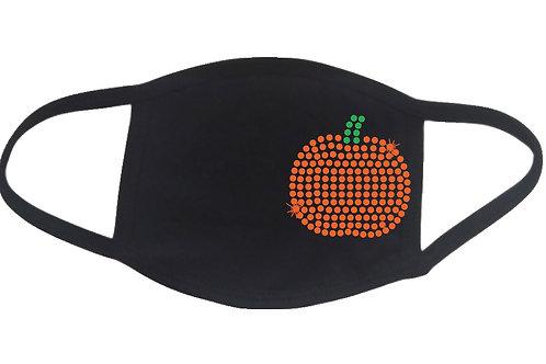 RHINESTONE Pumpkin 2 face mask - bling season autumn fall Halloween Thanksgiving