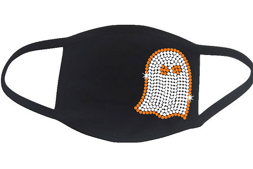 RHINESTONE Ghost Halloween face mask - bling scary boo scare spooky trick treat