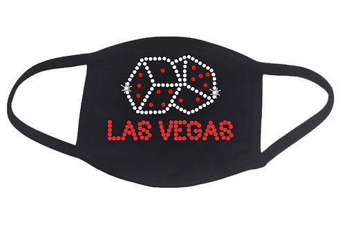 RHINESTONE Las Vegas Dice face mask - bling gamble craps casino trip vacation