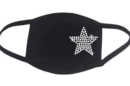 RHINESTONE Star face mask - bling shape shine sparkle - Pick Rhinestone Color