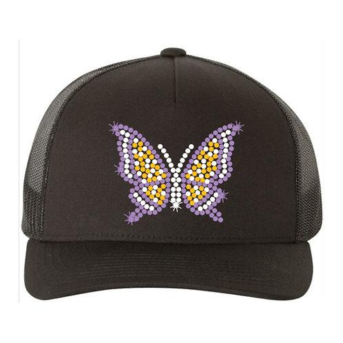 RHINESTONE Hat - Butterfly - bling love trucker snapback animals butterflies