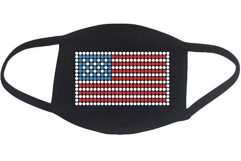 RHINESTONE USA Flag face mask cover - bling stars stripes United States America
