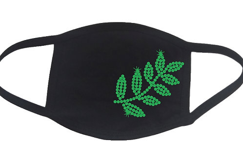 RHINESTONE Leaves face mask - bling plant tree foliage fern greenery green grow
