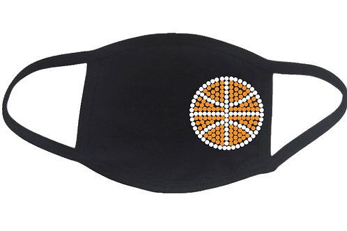 RHINESTONE Basketball face mask - bling sports school team ball game