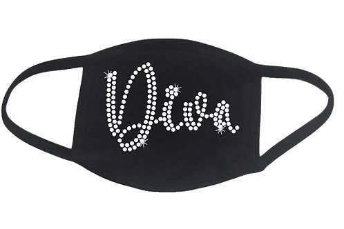 RHINESTONE Diva face mask - bling woman lady - Pick Rhinestone Color