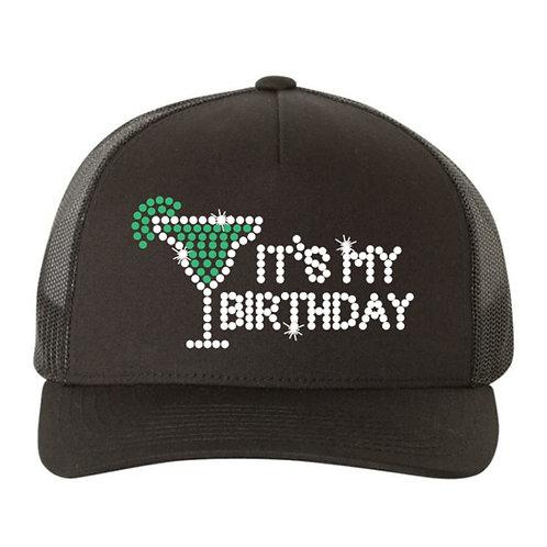RHINESTONE Hat - It's My Birthday Margarita - bling trucker snapback tequila fun