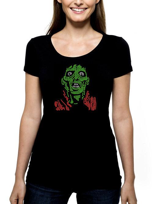 Zombie RHINESTONE T-Shirt Tank Top - BLING Halloween Fun Party Trick Treat Scary