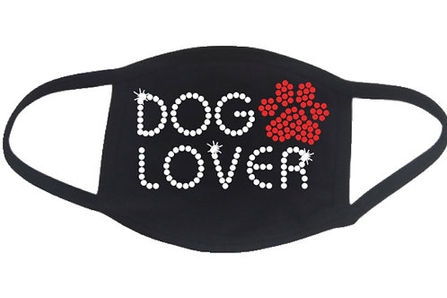 RHINESTONE Dog Lover face mask cover - bling puppy puppies animals adopt shelter