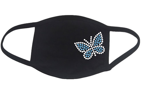 RHINESTONE Butterfly face mask - bling insect bug beauty animal summer love