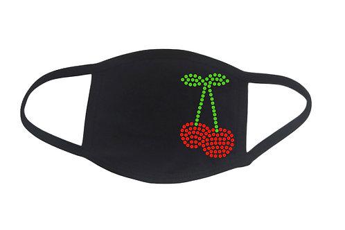 RHINESTONE Cherries face mask cover - bling fruit cherry pie eat food festival