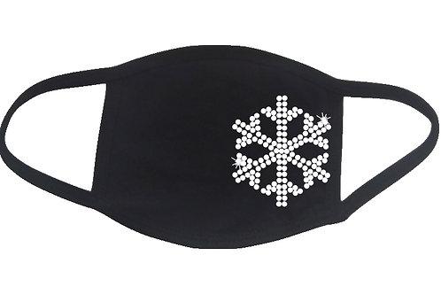 RHINESTONE Snow Flake face mask - bling snowflake winter cold skiing ski sled