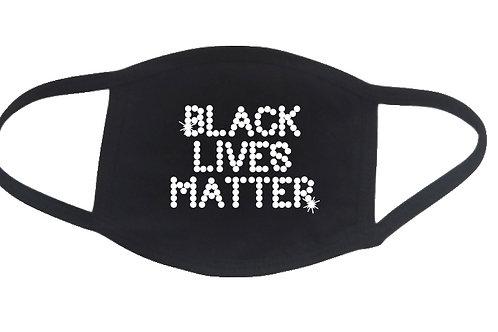 RHINESTONE Black Lives Matter face mask - bling words Pick Rhinestone Color