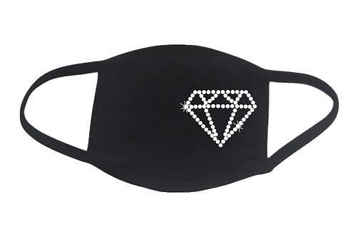 RHINESTONE Diamond face mask - bling shape shine sparkle - Pick Rhinestone Color
